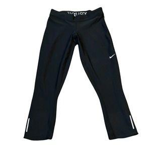 Nike Dri Fit Capri Leggings Small Back Zip Pocket